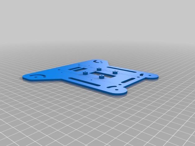 可折叠fpv 四轴飞行器 3D模型  图2