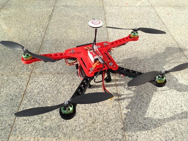 可折叠fpv 四轴飞行器 3D模型  图3