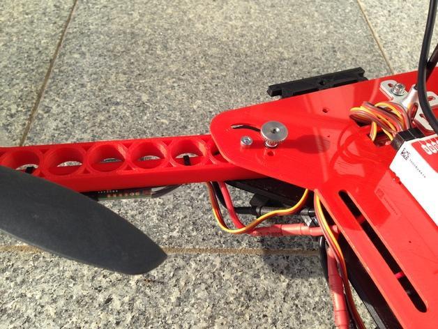 可折叠fpv 四轴飞行器 3D模型  图5