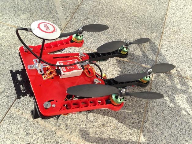 可折叠fpv 四轴飞行器 3D模型  图7
