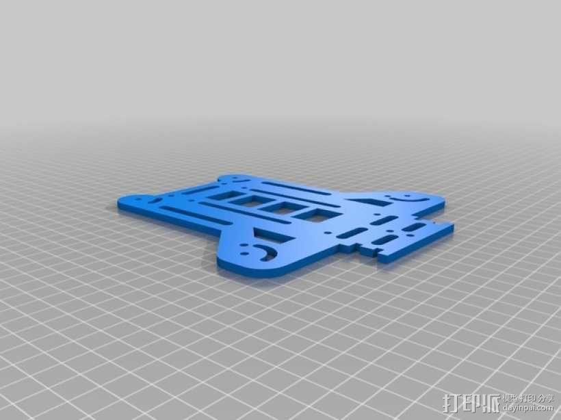 可折叠fpv 四轴飞行器 3D模型  图11