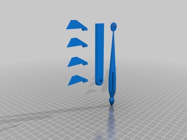 尖叫中的飞镖 3D模型  图3