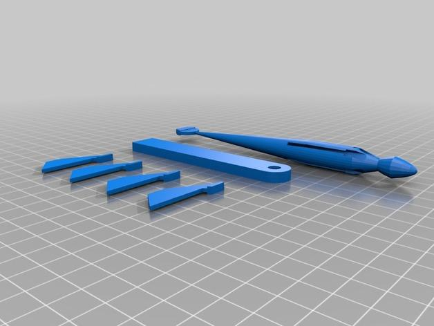 尖叫中的飞镖 3D模型  图2