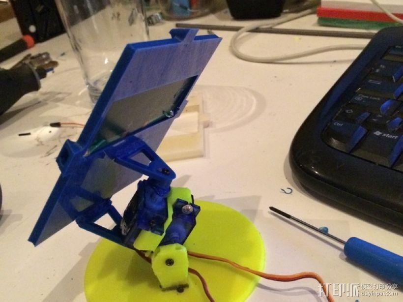 太阳与太阳能板的奇幻爱情 3D模型  图1