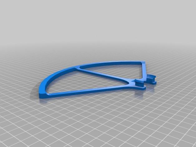 飞行器螺旋桨保护器——Protection d'hèlice F450 3D模型  图2