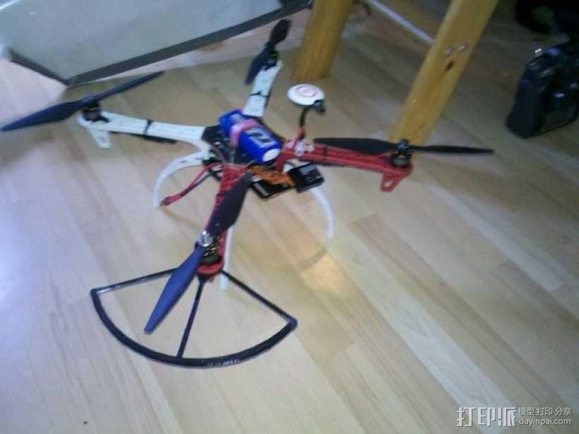 飞行器螺旋桨保护器——Protection d'hèlice F450 3D模型  图1