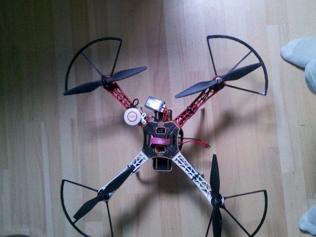 飞行器螺旋桨保护器——Protection d'hèlice F450 3D模型  图5