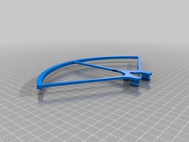 飞行器螺旋桨保护器——Protection d'hèlice F450 3D模型  图3