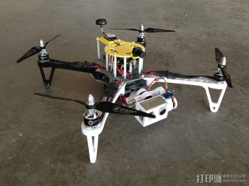 穿越火线号 fpv四轴飞行器 3D模型  图1