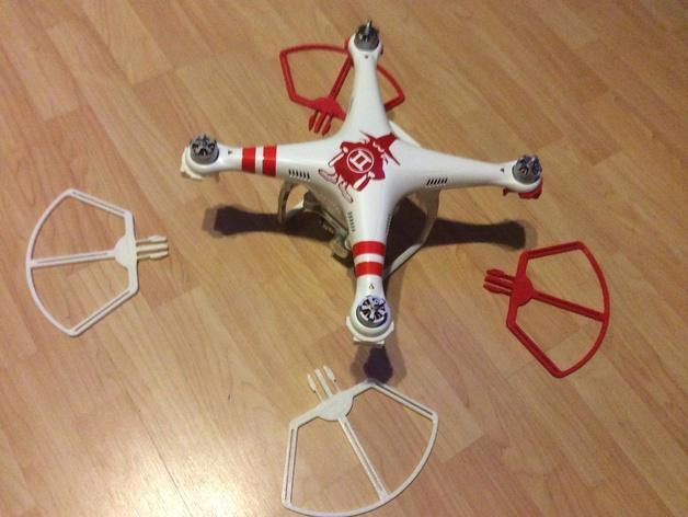 飞行器螺旋桨快速释放保护架 3D模型  图3