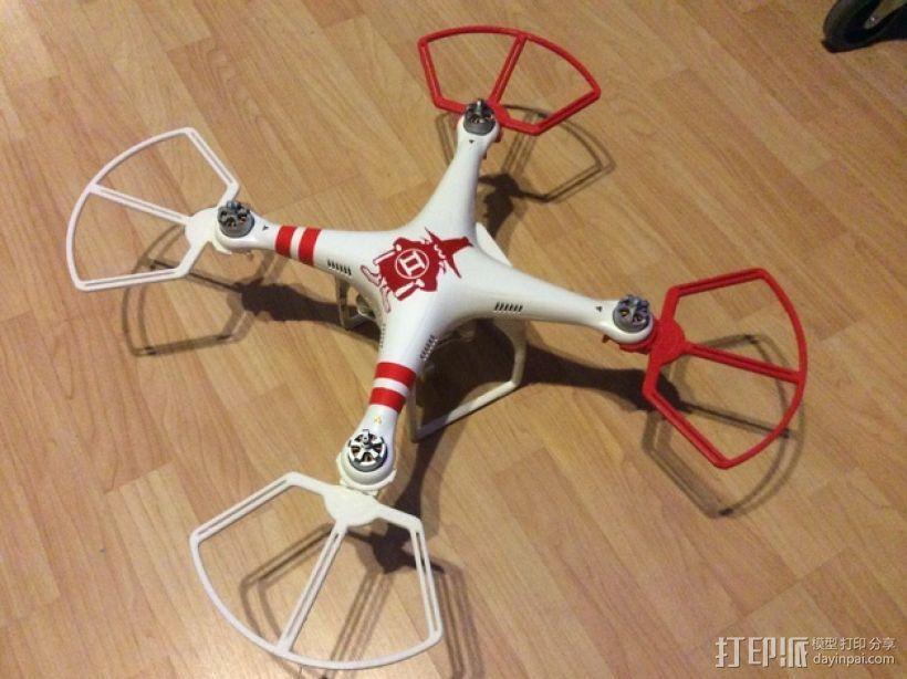 飞行器螺旋桨快速释放保护架 3D模型  图5