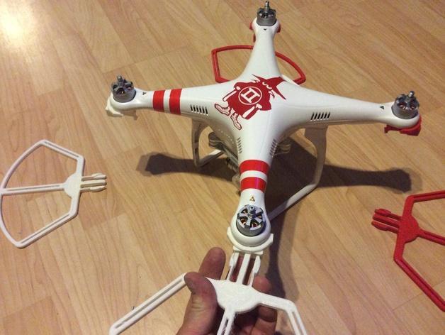 飞行器螺旋桨快速释放保护架 3D模型  图4