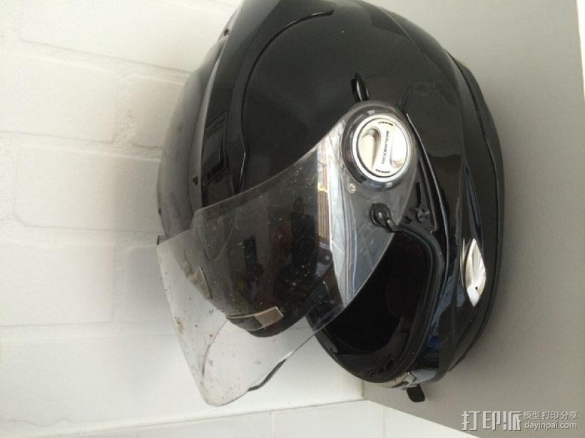 摩托头盔墙上固定架 3D模型  图1