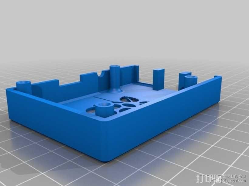树莓派B+外壳/盒 3D模型  图2