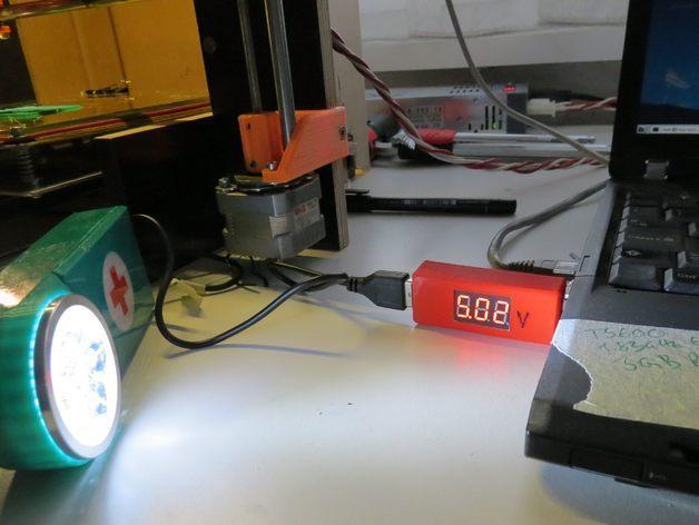 3位数字电压适配器 3D模型  图4