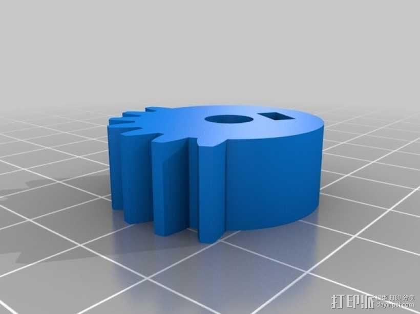 往返直线型运动机 3D模型  图4