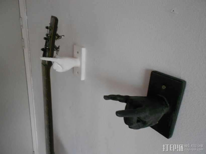 手型吉他挂钩 3D模型  图3