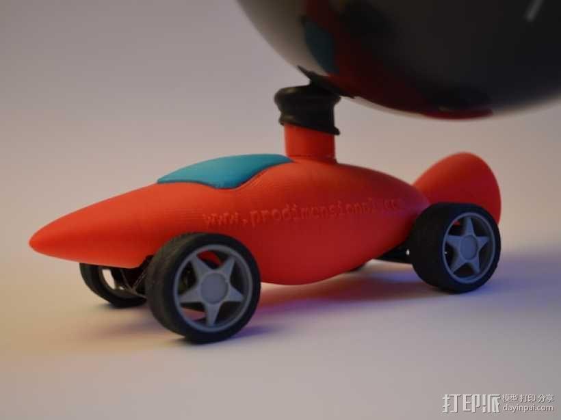 文丘里驱动的气球小车 3D模型  图1