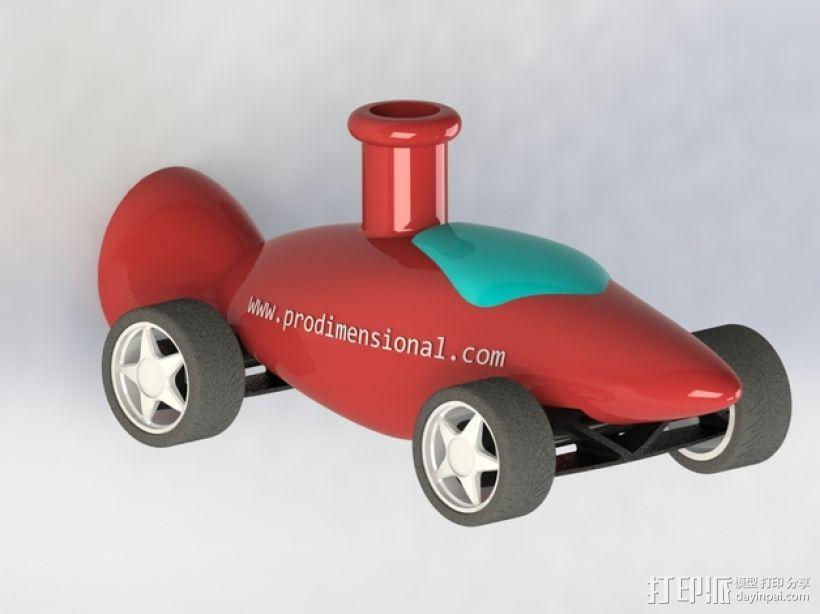 文丘里驱动的气球小车 3D模型  图2