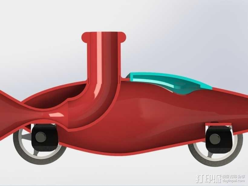 文丘里驱动的气球小车 3D模型  图8