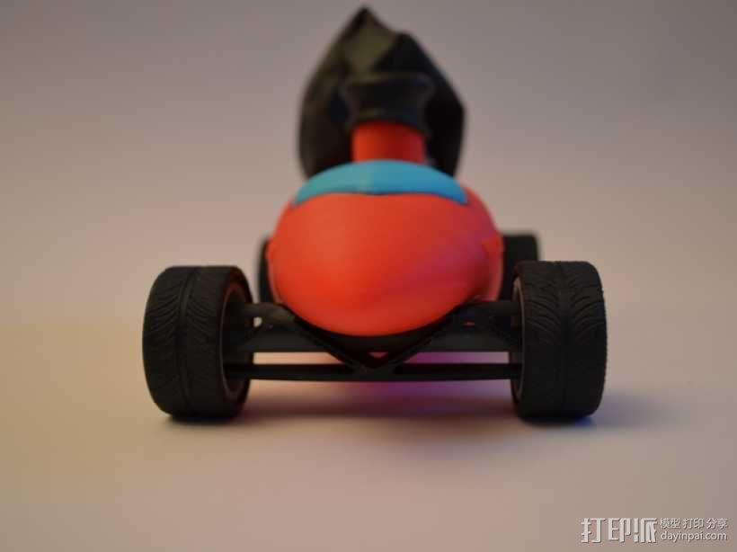 文丘里驱动的气球小车 3D模型  图6