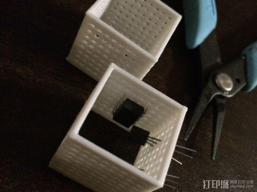 面包电路盒 3D模型  图1