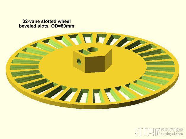 开槽小轮 3D模型  图3