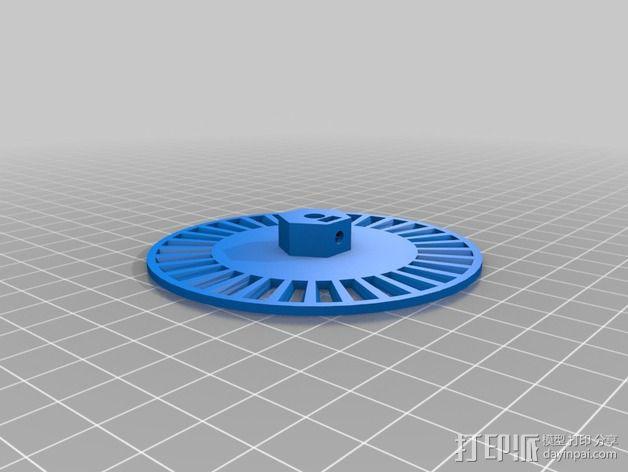 开槽小轮 3D模型  图2