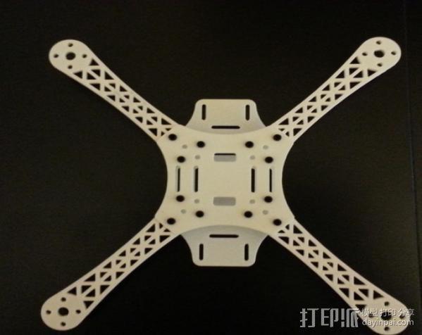 迷你四轴飞行器骨架 3D模型  图3