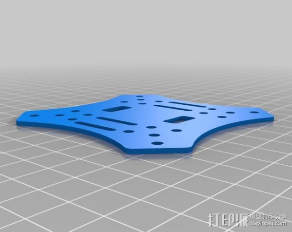 迷你四轴飞行器骨架 3D模型  图2