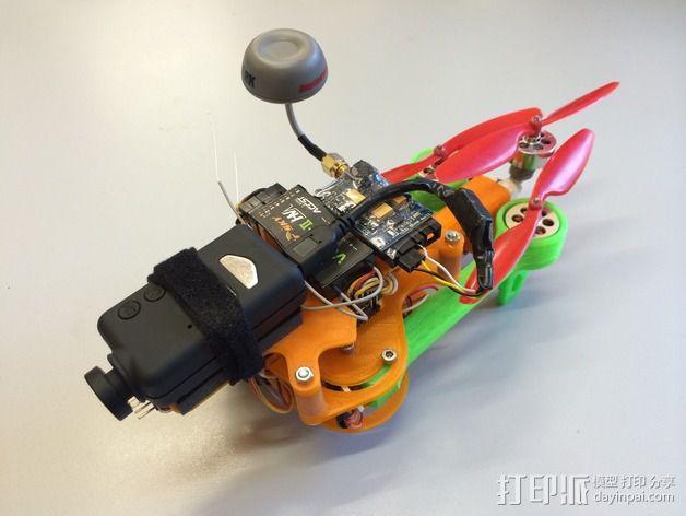 可折叠 BushBasher微型三轴迷你Rc 飞行器 v2 3D模型  图2
