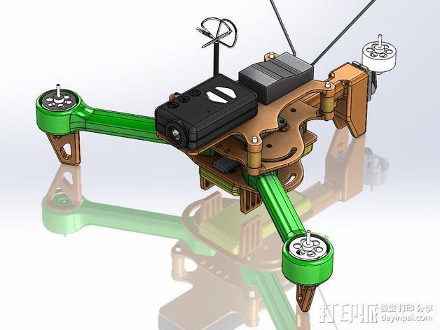 可折叠 BushBasher微型三轴迷你Rc 飞行器 v2 3D模型  图3