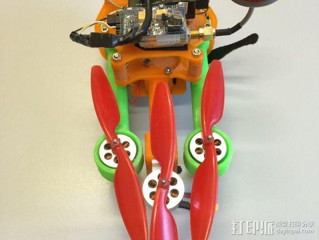 可折叠 BushBasher微型三轴迷你Rc 飞行器 v2 3D模型  图5