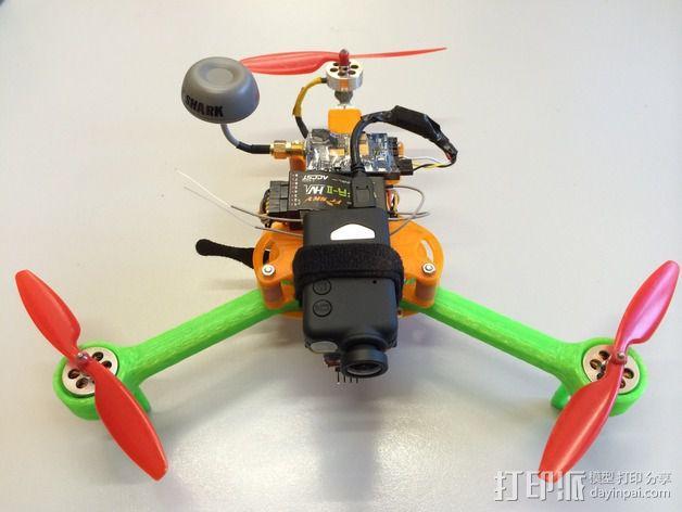 可折叠 BushBasher微型三轴迷你Rc 飞行器 v2 3D模型  图11