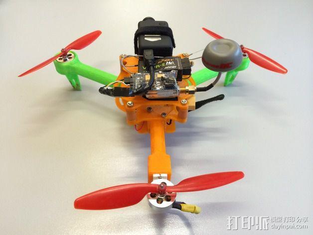 可折叠 BushBasher微型三轴迷你Rc 飞行器 v2 3D模型  图8