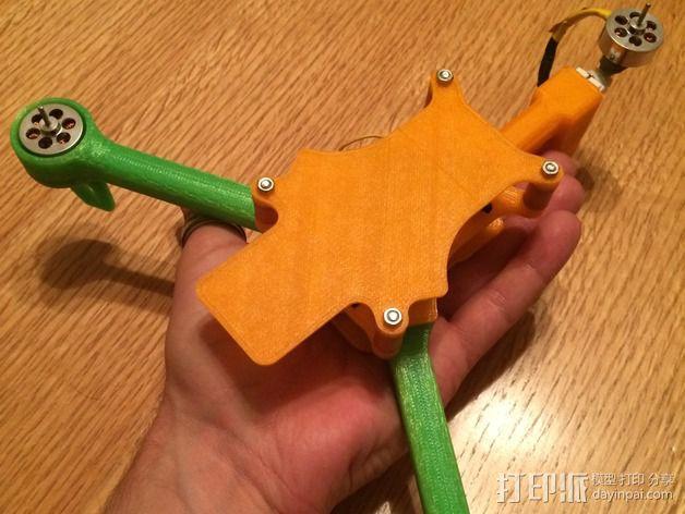 可折叠 BushBasher微型三轴迷你Rc 飞行器 v2 3D模型  图13