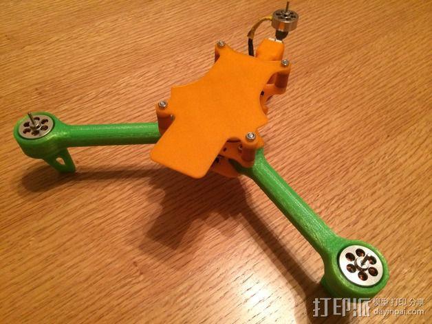 可折叠 BushBasher微型三轴迷你Rc 飞行器 v2 3D模型  图22