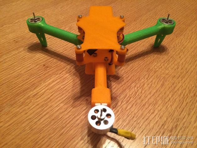 可折叠 BushBasher微型三轴迷你Rc 飞行器 v2 3D模型  图21