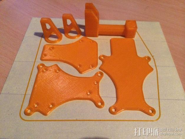 可折叠 BushBasher微型三轴迷你Rc 飞行器 v2 3D模型  图24