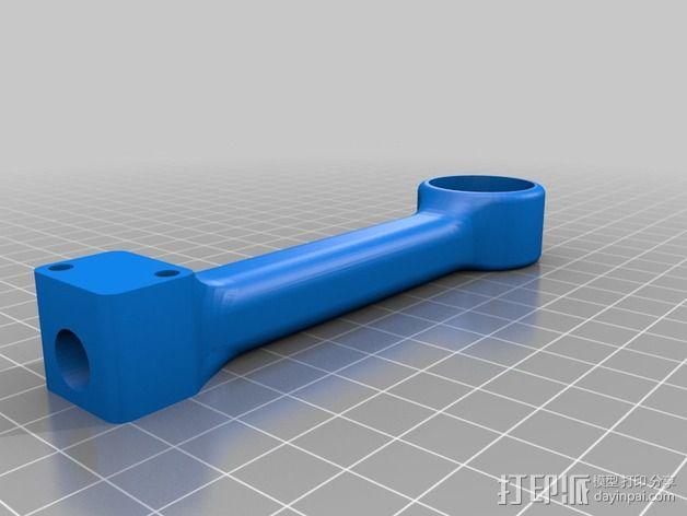 可折叠 BushBasher微型三轴迷你Rc 飞行器 v2 3D模型  图30