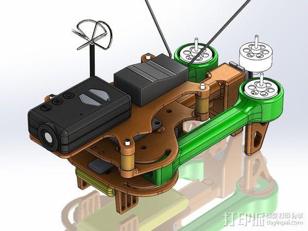 可折叠 BushBasher微型三轴迷你Rc 飞行器 v2 3D模型  图32