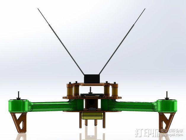 可折叠 BushBasher微型三轴迷你Rc 飞行器 v2 3D模型  图34