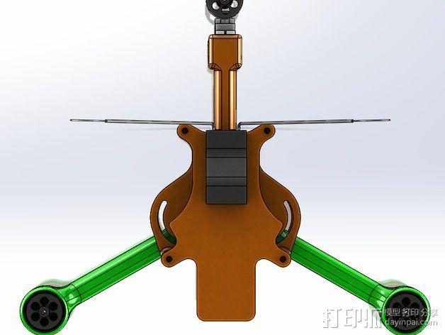 可折叠 BushBasher微型三轴迷你Rc 飞行器 v2 3D模型  图37