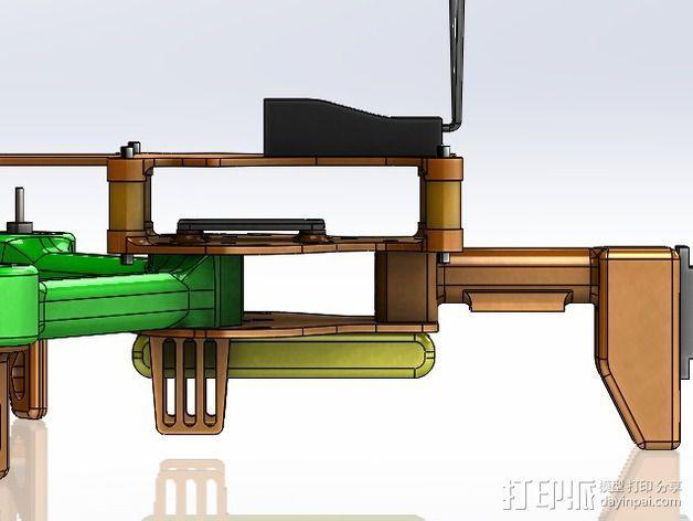 可折叠 BushBasher微型三轴迷你Rc 飞行器 v2 3D模型  图36