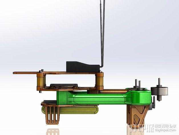 可折叠 BushBasher微型三轴迷你Rc 飞行器 v2 3D模型  图41