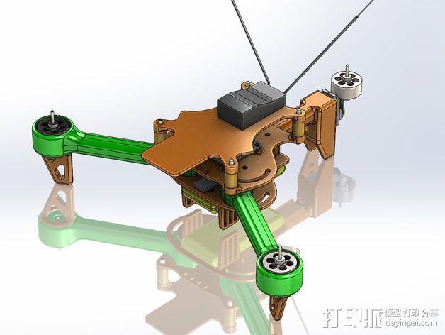 可折叠 BushBasher微型三轴迷你Rc 飞行器 v2 3D模型  图42