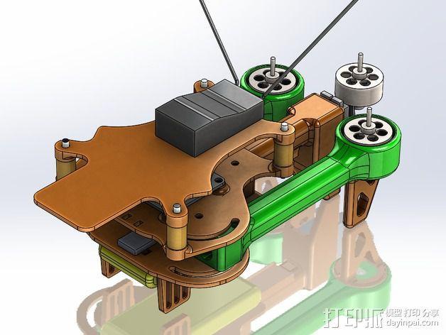 可折叠 BushBasher微型三轴迷你Rc 飞行器 v2 3D模型  图39