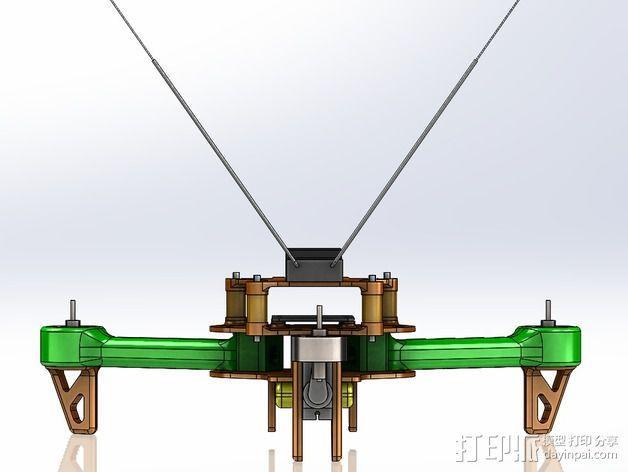 可折叠 BushBasher微型三轴迷你Rc 飞行器 v2 3D模型  图40