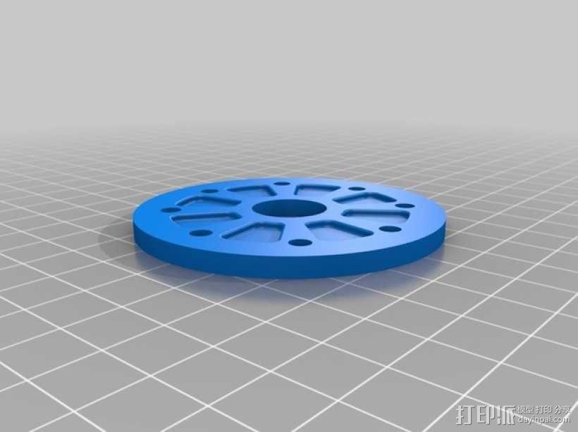 径向压缩机 3D模型  图3