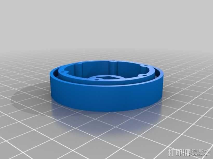 Axial SCX10 和Wraith的1.9夹片锁胎  12mm Hex 3D模型  图3